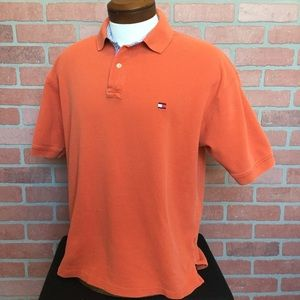Mens Tommy Hilfiger Polo shirt size large (4F17)